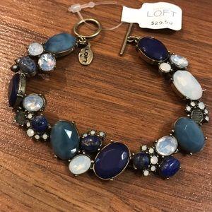 Ann Taylor Deep blue, turquoise & iridescent